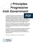 Policy principles for an alternative democratic and progressive government in Ireland