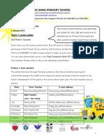 P1 Term 1 Level Letter 2015