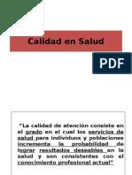Calidad en Salud 2014-II