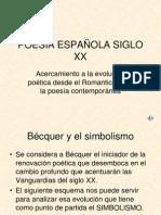 POESÍA ESPAÑOLA SIGLO XX