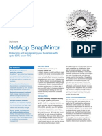 NetApp Snap Mirror Datasheet