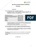 Examen Final de Nivelaciòn de Carreras Tècnicas