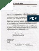 OFÍCIO TCE-PB PARA CÂMARA DE INGÁ-PB