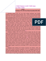 Materi Muatan HAM Dalam UUD 1945 Dan Dalam Konstitusi RIS 1949
