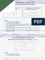 Transparencias para el cálculo del Tamaño de la Muestra - Poblaciones infinitas y finitas