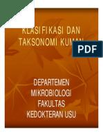 Bbc215 Slide Klasifikasi Dan Taksonomi Kuman