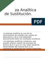 Balanza Analítica de Sustitución