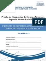 Prueba de Diagnóstico de Ciencias Naturales Segundo Año de Bachillerato - 2015