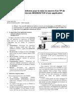Labview Une Plateforme Pour La Mise en Oeuvre Dun Tp de Supervision Par Protocole Modbustcp Dune Application Automate