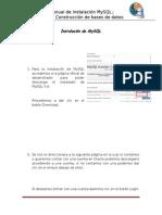 Manual de instalación de Mysql.