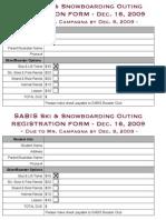 SABIS Ski & Board Outing Registration Form