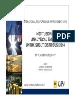 140307 - Pemaparan Analytical Thinking OPI Penekanan Susut 2014 Update Revisi 2 - DJTY