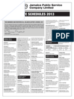 Jamaica Public Service Company Limited - RATE SCHEDULES 2013