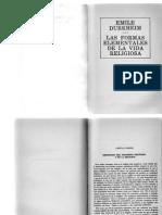 Sesion 3 Durkheim Fenomeno Religioso Formas Elementales