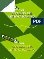 División Del Derecho Romano