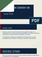 Sistema de gestion de riesgo RSI ISO 27005