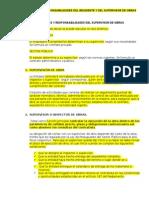 Funciones y Responsabilidades de Supervisor de Obras