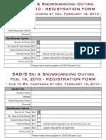Registration Form - Feb 18, 2010 Trip