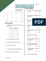 Chapter 8 I STATISTICS I+II (Enrich)