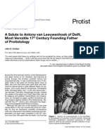 A Salute to Antony Van Leeuwenhoek