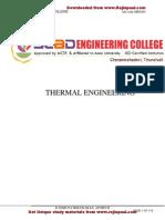 Me6404- Thermal Engineering