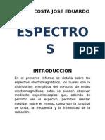 Informe de Espectros