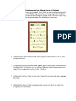 8 Rahasia Surat Alfatiha