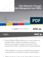FMEA and characteristics