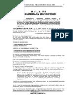 Rule 58-PR Preliminary Injunction