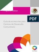 Guía de Ecotecnias Para Centros de Desarrollo Comunitario