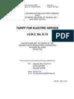 Vectren Energy - Tariffs May 2015