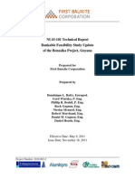NI 43-101 Technical Report Bankable Feasibility Study Update of the Bonasika Project, Guyana