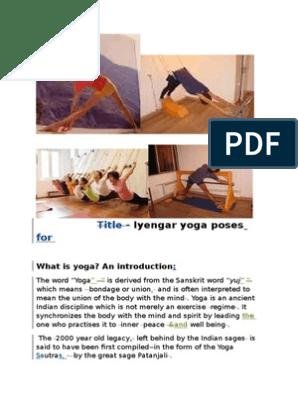Iyengar Yoga Poses Asana Yoga