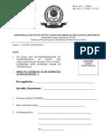 Application Form JIPMER Asst Professor