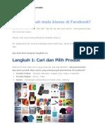 Anda Baru Nak Mula Bisnes Di Facebook