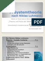 Luhmann - Systemtheorie