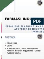 [1] Peran Dan Tanggung Jawab Apoteker Di Industri Farmasi