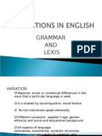 Variations in English