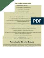 Circular Curves