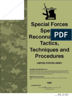 US Army FM 31-20-5 - Special Forces Special Reconnaissance Tactics, Techniques and Procedures - March 1993