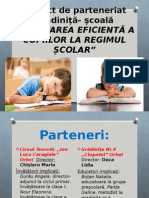 Proiect de Parteneriat Grădiniţă- Şcoală