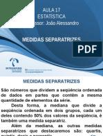 Aula17 Medidasseparatrizes 121028121220 Phpapp01