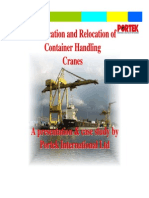 Modifications Relocations Container Handling Cranes