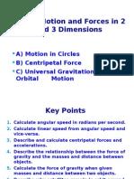 angular velocity, centripetal forces, and gravitation