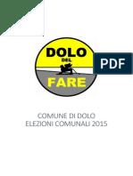 new concept 77090 36fbb Dolo del Fare - Programma elettorale
