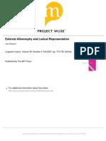 External allomorphy and lexical representation