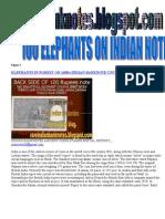 100 Rupees Elephants Back