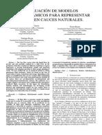 Evaluacion de Modelos Hidrodinamicos Para Representar Flujos en Cauces Naturales