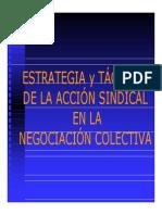 Estrategias y Tacticas de La Accion Sindical en La Negociacion Colectiva Clase