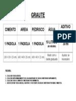 TRAÇO - GRAUTE
